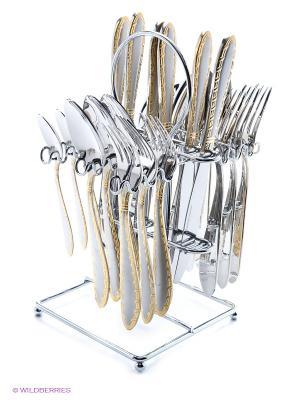 Набор столовых приборов Bekker. Цвет: серебристый, золотистый