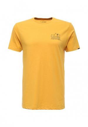 Футболка Vans. Цвет: желтый