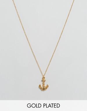 Gorjana Ожерелье с подвеской-якорем. Цвет: золотой