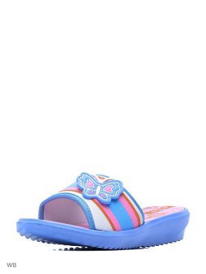Шлепанцы Effa. Цвет: голубой, розовый
