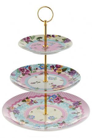 Блюдо, 25,5 см,20 см,15 см Nouvelle. Цвет: голубой, розовый, бежевый