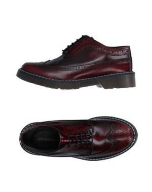 Обувь на шнурках ALBERTO BRESSAN. Цвет: красно-коричневый