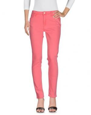 Джинсовые брюки LEE. Цвет: коралловый