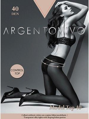 Колготки Model Top 40 Argentovivo. Цвет: бежевый