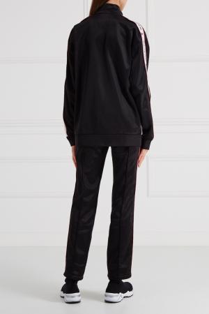 Трикотажные брюки с лампасами Forte Couture. Цвет: черный
