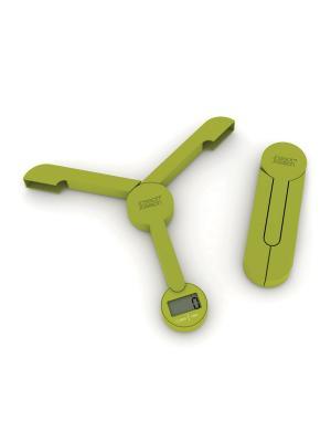 Весы кухонные складные TriScale зеленые Joseph. Цвет: зеленый