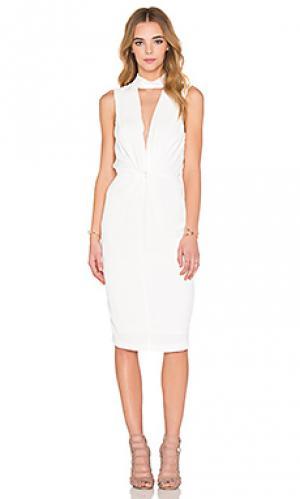 Миди платье с переплетом BEC&BRIDGE. Цвет: ivory