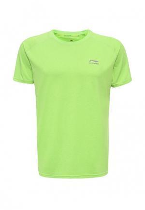 Футболка спортивная Li-Ning. Цвет: зеленый
