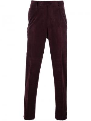 Зауженные брюки Ermenegildo Zegna. Цвет: розовый и фиолетовый