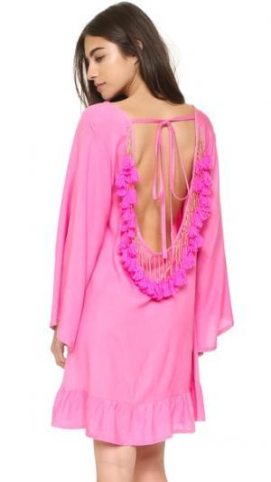 Короткое пляжное платье Indiana Basic SUNDRESS. Цвет: розовый