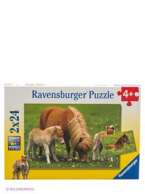 Пазл Очаровательные пони Ravensburger. Цвет: желтый