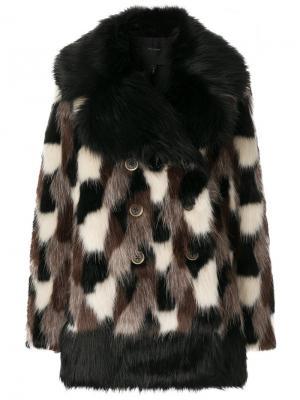 Faux fur coat Marc Jacobs. Цвет: чёрный