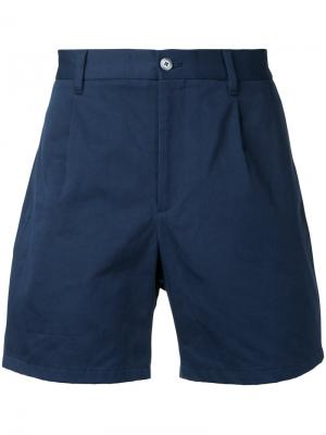 Короткие шорты-чинос Kent & Curwen. Цвет: синий
