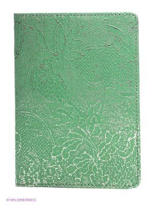 Обложка для паспорта D'Angeny. Цвет: зеленый