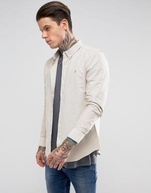 Farah Зауженная рубашка с длинными рукавами. Цвет: белый