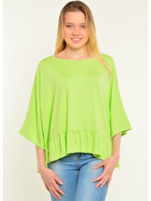 Блуза PONCHO Ням-Ням. Цвет: светло-зеленый