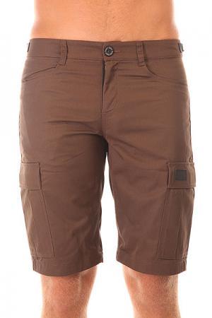 Шорты классические  Cargo Shorts Strap Brown Skills. Цвет: коричневый