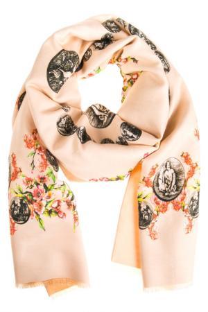 Палантин Vita Pelle. Цвет: молочный, розовый