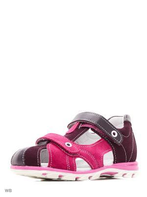 Сандалии Детский скороход. Цвет: фиолетовый, розовый