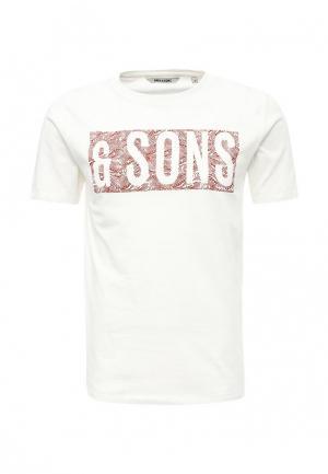 Футболка Only & Sons. Цвет: белый