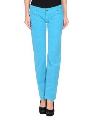 Повседневные брюки JFOUR. Цвет: бирюзовый