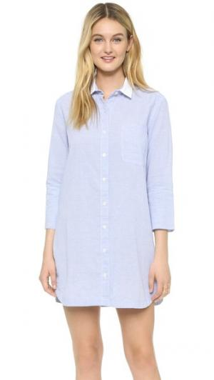 Платье-рубашка в полоску Felicite. Цвет: тонкая полоска