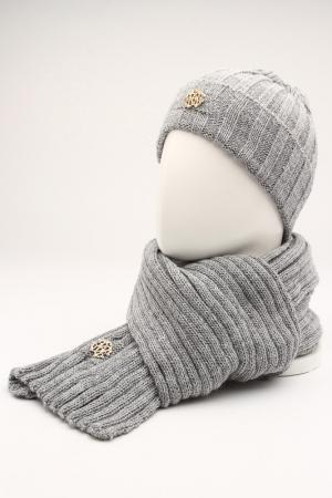 Комплект: шапка, шарф GROPA. Цвет: серый