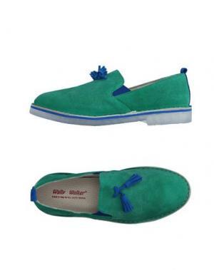 Мокасины WALLY WALKER. Цвет: зеленый