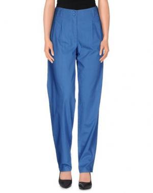 Повседневные брюки GESTUZ. Цвет: синий