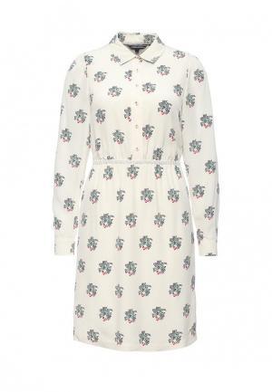 Платье Tommy Hilfiger. Цвет: бежевый