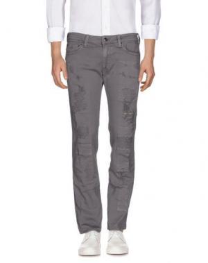 Джинсовые брюки HTC. Цвет: светло-коричневый
