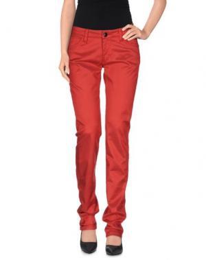 Повседневные брюки DATCH. Цвет: красный