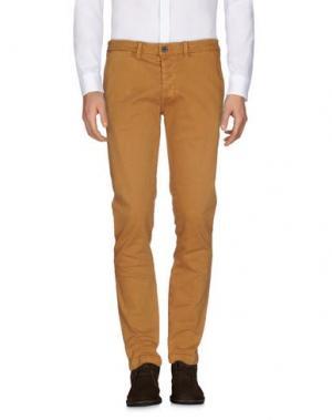Повседневные брюки QU4TTRO. Цвет: верблюжий