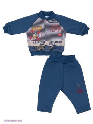 Комплект одежды Бимоша. Цвет: серо-голубой