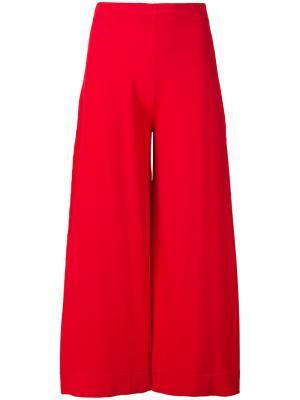 Укороченные брюки с высокой талией D.Exterior. Цвет: красный