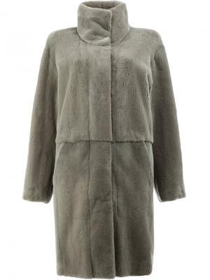Двустороннее пальто 32 Paradis Sprung Frères. Цвет: серый