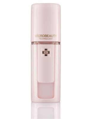 Ультразвуковой портативный увлажнитель для кожи лица, шеи и области декольте -  Microbeauty. Цвет: бледно-розовый