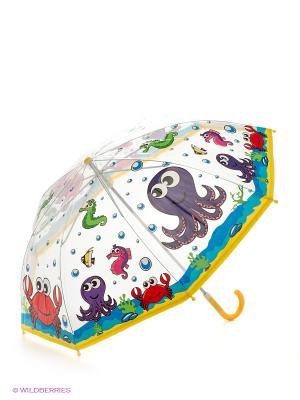 Зонт Подводный мир Mary Poppins. Цвет: белый, желтый
