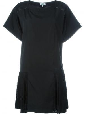 Плиссированное платье Tech Kenzo. Цвет: чёрный