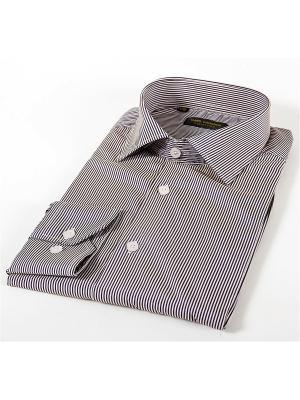 Рубашка Hans Grubber. Цвет: белый, черный
