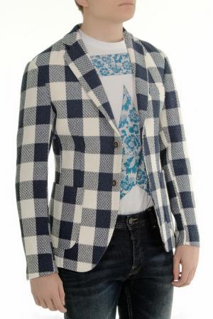 Пиджак ALBION. Цвет: синий, белый
