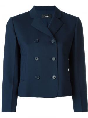 Укороченный пиджак Jintrilla Theory. Цвет: синий