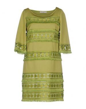 Короткое платье SONIA FORTUNA. Цвет: светло-зеленый
