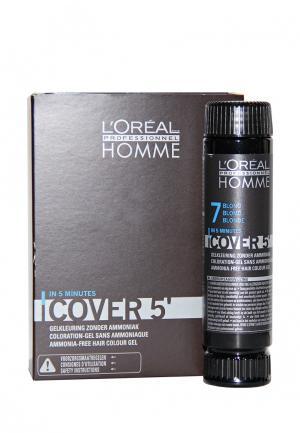Тонирующий гель Кавер 5 №7 LOreal Professional L'Oreal. Цвет: коричневый