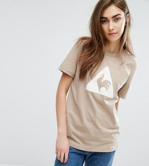 Le Coq Sportif Бежевая футболка с логотипом из флока Charline эксклюзи. Цвет: кремовый