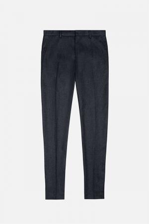 Прямые брюки Ami Alexandre Mattiussi. Цвет: серый