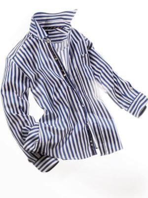 Рубашка ALBA MODA. Цвет: белый (осн.), синий