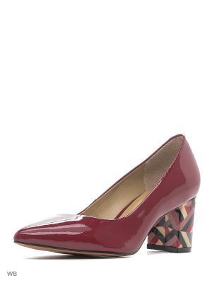 Туфли INDIANA. Цвет: темно-красный