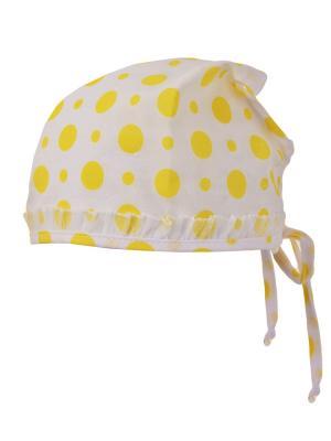 Бандана Elo-Melo. Цвет: белый, желтый