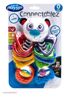 Игрушка-прорезыватель Панда Playgro. Цвет: красный, белый, зеленый
